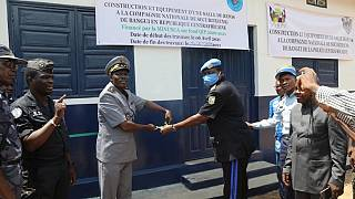 Bangui : Les Forces de sécurité intérieure réceptionnent une nouvelle salle de repos équipée et un forage d'eau potable