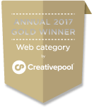 Annual 2017 Gold Winner Web category by Creativepool