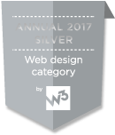 Annual 2017 Silver Web design category by W3